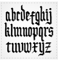 Gothic alphabet font vector image vector image
