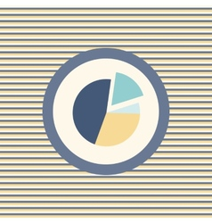 Graph pie color flat icon vector image