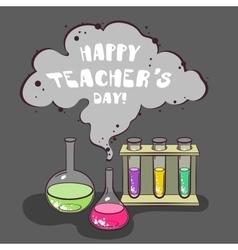 Happy Teachers Day Chemistry vector image vector image
