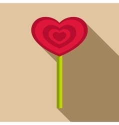 Heart candy icon flat style vector image
