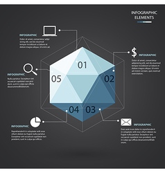 Hexagon infographic vector