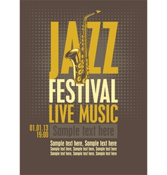 jazz festival vector image vector image