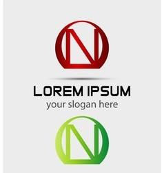 Letter n logo icon vector