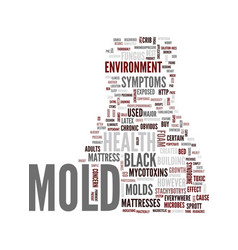 Mold and illness text background word cloud vector