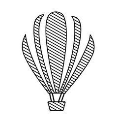 monochrome silhouette of hot air balloon to vector image