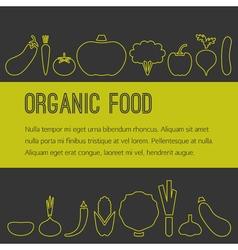 Organic food brochure vector