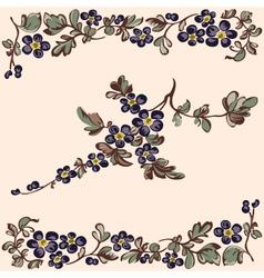 pattern floral blue flower vector image
