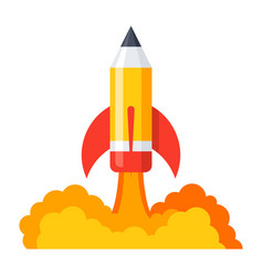pencil launch icon vector image vector image