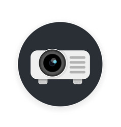 projector icon in flat style vector image vector image