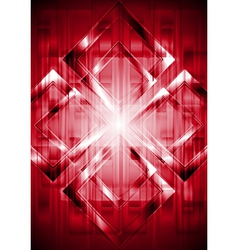 Red technical background vector image