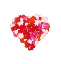 rose petals heart Can be used for creating vector image vector image