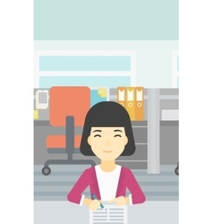 Signing of business documents vector
