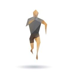 Sports man running vector image