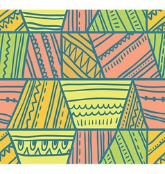 tribal seamless pattern Geometric background vector image