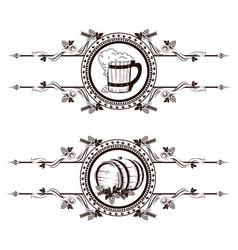 vintage beer label vector image