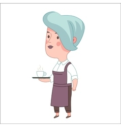 Waitress Dodo people collection vector image vector image