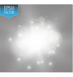 White glitter wave white star vector