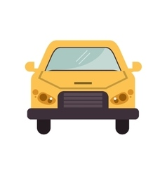 Isolated car vehicle design vector