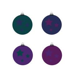 Christmas ball color vector