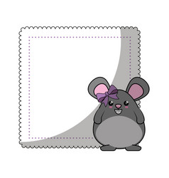 little mouse kawaii cartoon vector image