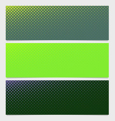 halftone square pattern banner template design set vector image