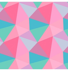 Seamless polygon triangle pattern vector