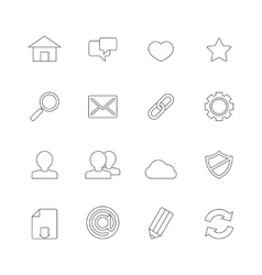 Web Icons Line vector image