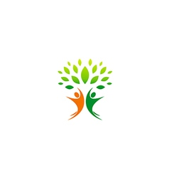 Happy people vegetarian partner logo vector