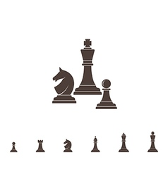 Chess silhouette vector