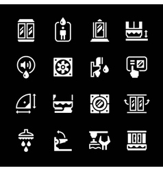 Set icons of shower cabin vector