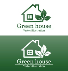 Green house logo eco house green house green hous vector