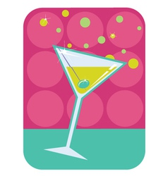 Cocktail retro background vector