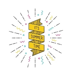 It is summer time inspirational vector