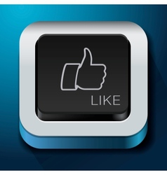 App design like icon - thumbs up button vector image vector image