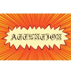 Attention Gothic font lettering vector image vector image