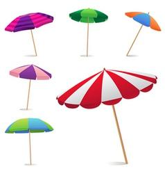 beach umbrella vector image vector image