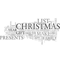 Become organized this christmas text word cloud vector