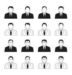 business man icons set vector image vector image