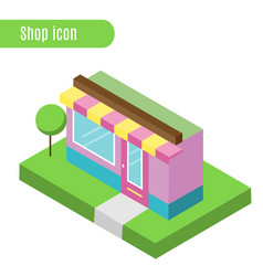 Cartoon store shop cafe vector
