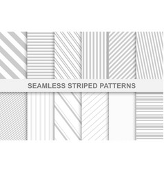collection of striped seamless patterns vector image