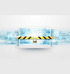 computer security protect your laptop concept vector image vector image