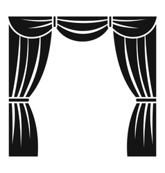 Curtain on stage icon simple style vector