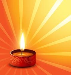 Diwali background of hindu festival vector