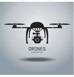 drone quadrocopter drone drone icon drone flat vector image