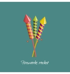 Firework rocket in cartoon style vector image