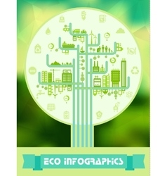 Flat eco infographics vector