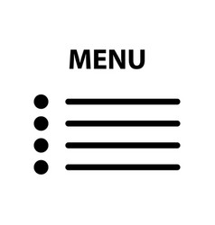 flat menu icon vector image