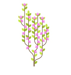 flowered tree vector image vector image