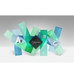 Futuristic abstract template vector image vector image