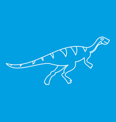 gallimimus icon outline style vector image vector image
